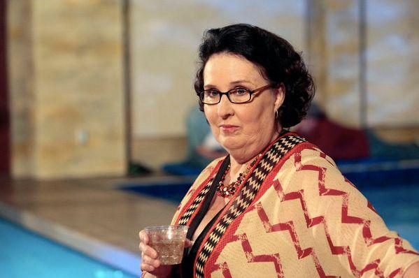 Phyllis looking as fierce as ever.