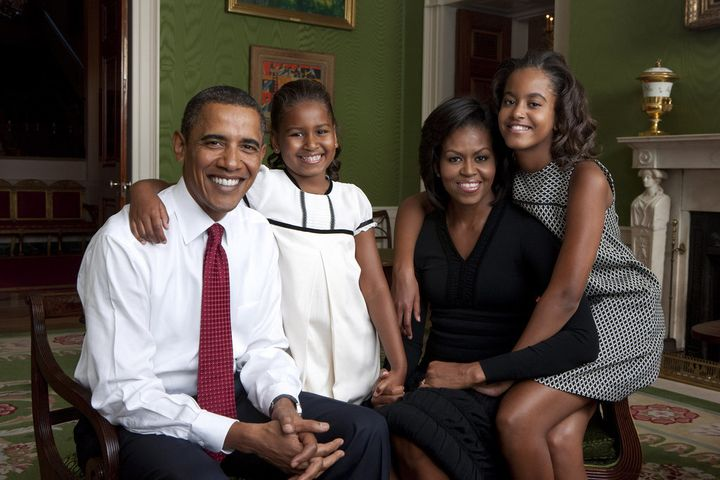 Annie Leibovitz photographed the Obama family at the White House in 2009.