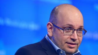 Freed Washington Post Tehran bureau chief Jason Rezaian speaks during the inauguration of the Washington Post Headquarters on January 28, 2016 in Washington, DC.  Rezaian was released from Iran after 18 months behind bars on spying charges.   / AFP / Mandel Ngan        (Photo credit should read MANDEL NGAN/AFP/Getty Images)