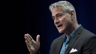 """Olympic diver Greg Louganis appears for the HBO """"On the Board Again: Greg Louganis"""" presentation in the cable portion of the Television Critics Association Summer Press Tour in Beverly Hills, California July 30, 2015.  REUTERS/David McNew"""