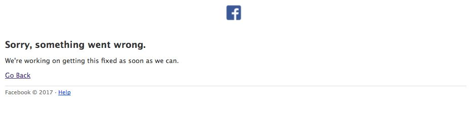 Some Facebook users encountered this error on the social media site Friday.