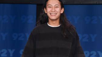 NEW YORK, NY - NOVEMBER 03:  Fashion Designer Alexander Wang poses during the Fashion Icons With Fern Mallis: Alexander Wang at 92nd Street Y on November 3, 2016 in New York City.  (Photo by Daniel Zuchnik/Getty Images)