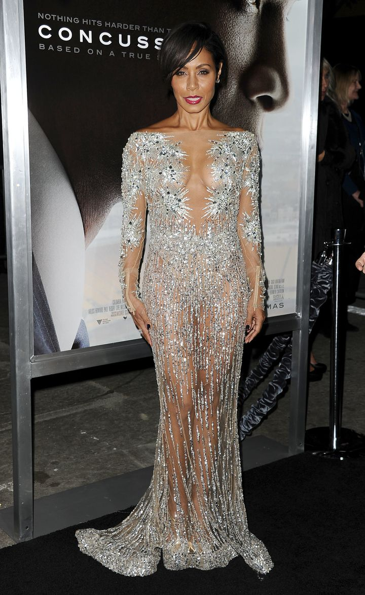 Jada Pinkett Smith Sparkles In A Nearly Naked Gown   HuffPost