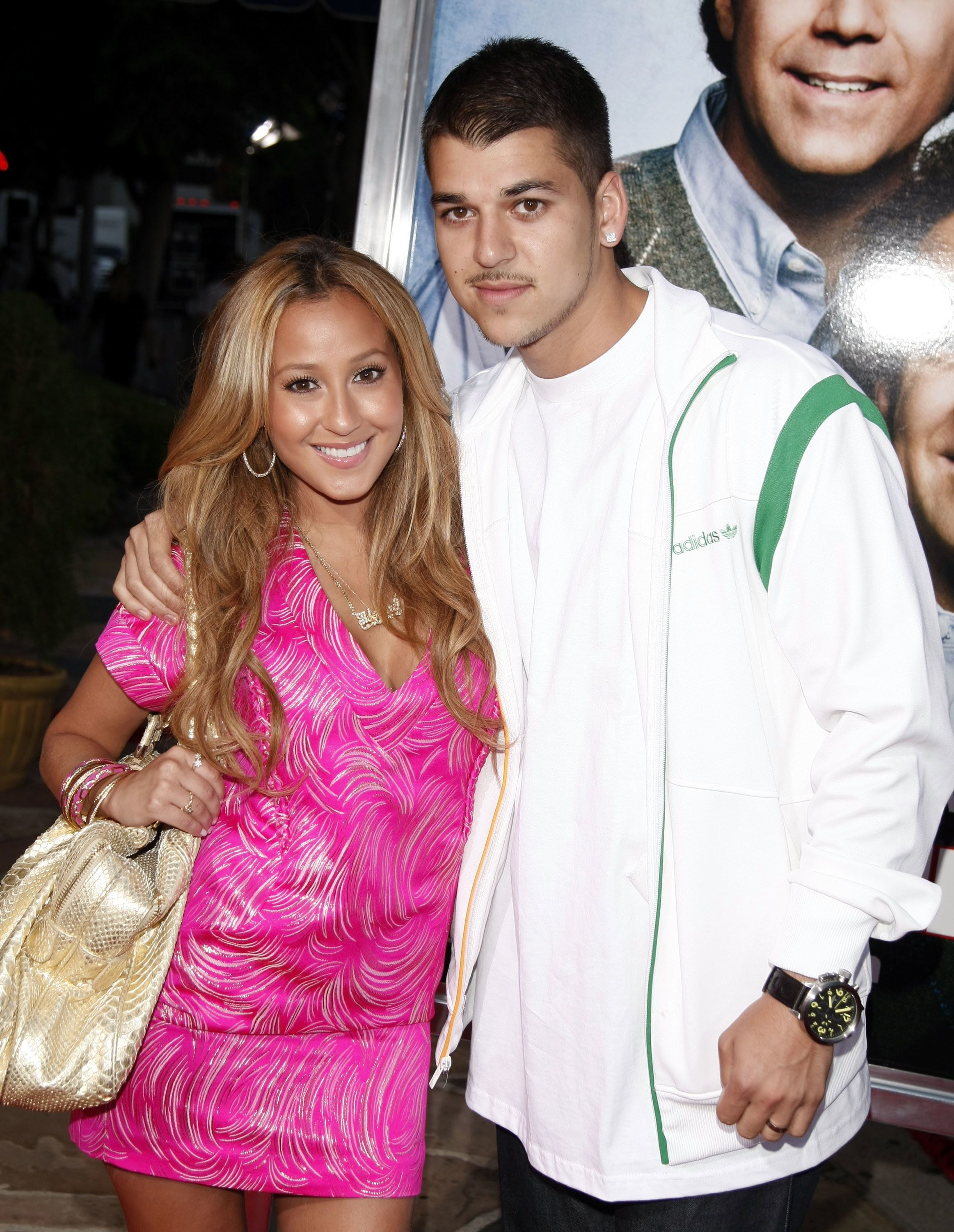 LOS ANGELES, CA - JULY 15:  Singer Adrienne Bailon (L) and Rob Kardashian arrive at the premiere of Sony Picture's 'Step Brothers' at the Village Theater on July 15, 2008 in Los Angeles, California.  (Photo by Kevin Winter/Getty Images)