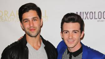 LOS ANGELES, CA - APRIL 17:  Actor Josh Peck (L) and Drake Bell (R) attend Drake Bell's album release party for 'Ready Steady Go!' at Mixology101 & Planet Dailies on April 17, 2014 in Los Angeles, California.  (Photo by Paul Archuleta/FilmMagic)