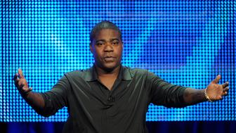 "Writer and executive producer Tracy Morgan participates in the panel for the comedy special ""Tracy Morgan: Black and Blue"" during the HBO summer Television Critics Association press tour in Beverly Hills, California August 7, 2010. REUTERS/Phil McCarten (UNITED STATES - Tags: ENTERTAINMENT)"