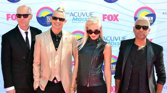 No Doubt attending the 2012 'Teen Choice Awards' held at the Gibson Amphitheatre in Universal City, California on July 22, 2012.