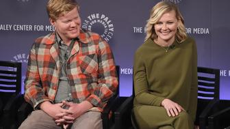 NEW YORK, NY - OCTOBER 16:  Jesse Plemons and Kirsten Dunst attend PaleyFest New York 2015 - 'Fargo' at The Paley Center for Media on October 16, 2015 in New York City.  (Photo by Jamie McCarthy/Getty Images)
