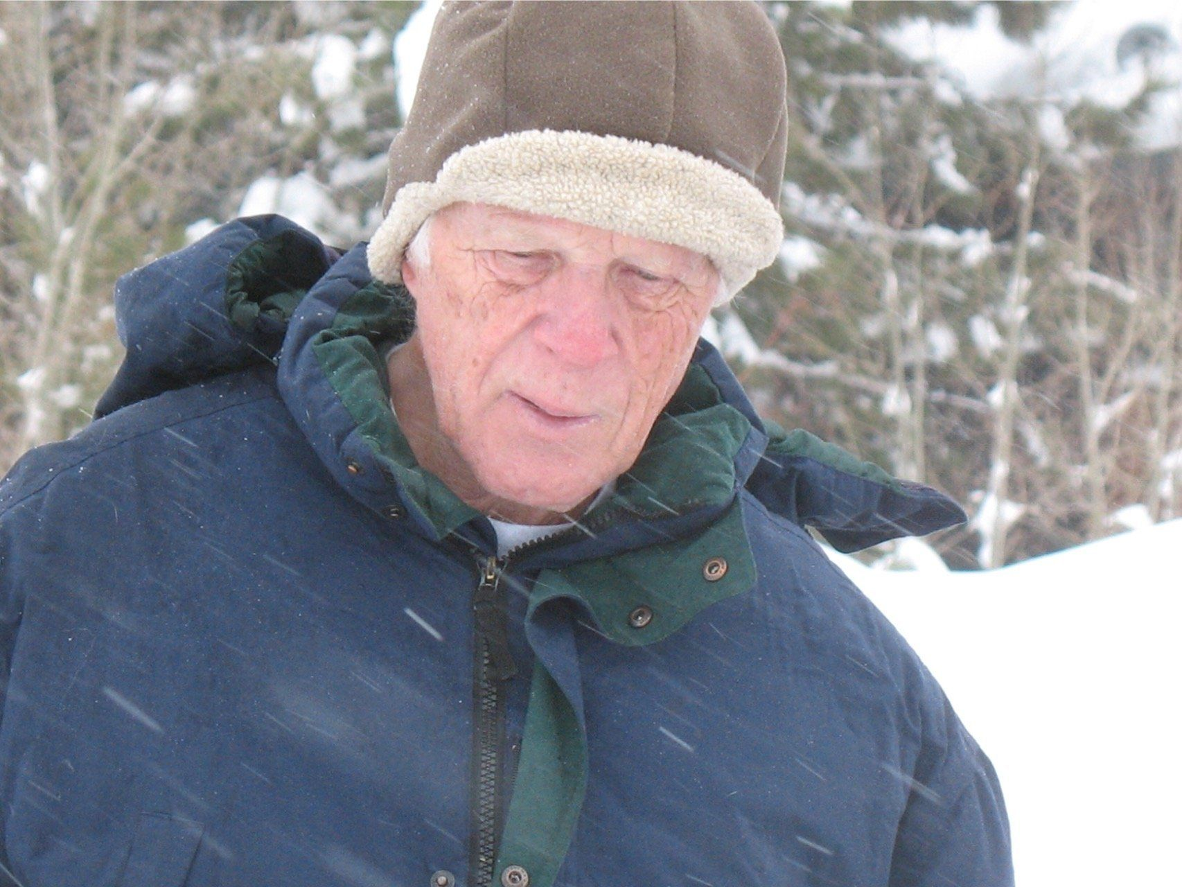 Vic Johnson, the author's husband, is pictured here during a 2014 ski trip. He died on Jan. 4, 2017.