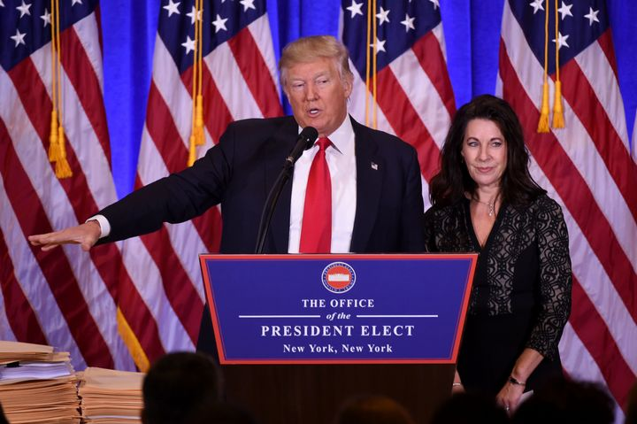 President-elect Donald Trump and his lawyer, Sheri Dillon, describe their plan to get around the Constitution's Emoluments Cl