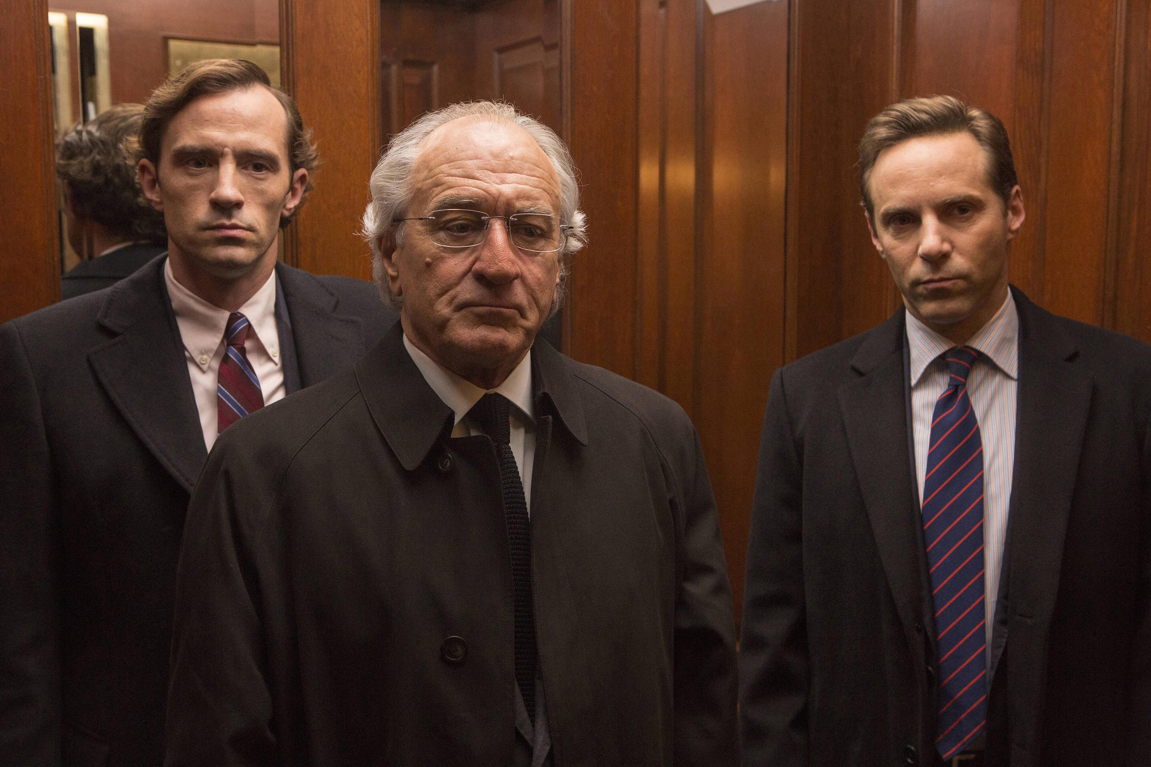 Robert De Niro as Bernie Madoff.