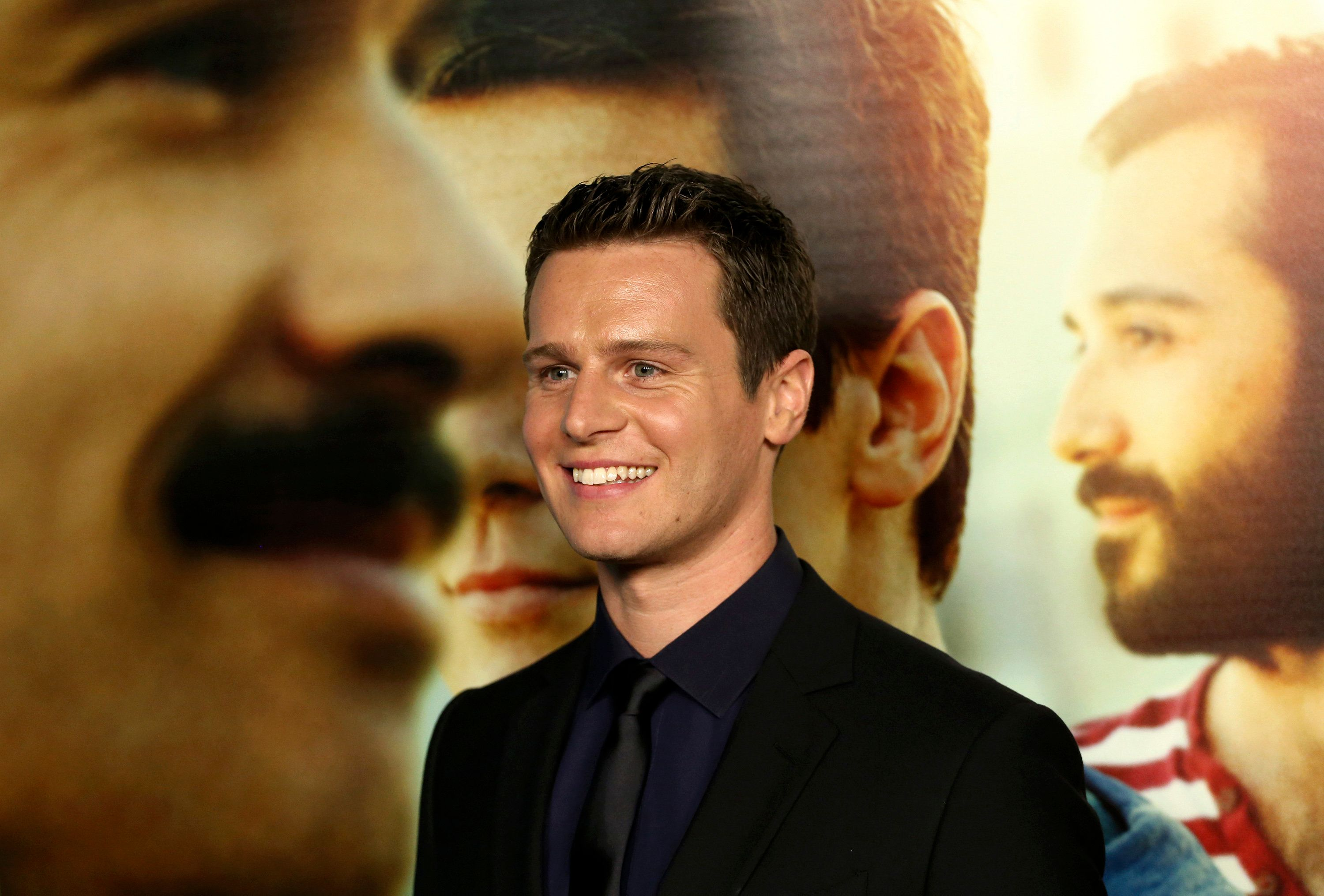 "Cast member Jonathan Groff poses at the premiere of the new HBO Comedy Series ""Looking"" at Paramount Studios in Hollywood, California January 15, 2014. The television show debuts on January 19. REUTERS/Jonathan Alcorn (UNITED STATES - Tags: ENTERTAINMENT)"