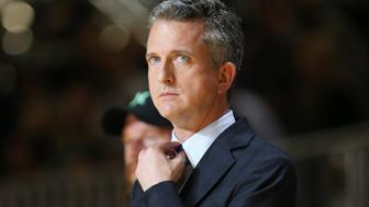 NEW ORLEANS, LA - FEBRUARY 14: ESPN TV Personality Bill Simmons Coach of the West Team reacts to a play during the Sprint NBA All-Star Celebrity Game at Sprint Arena during the 2014 NBA All-Star Jam Session at the Ernest N. Morial Convention Center on February 14, 2014 in New Orleans, Louisiana. NOTE TO USER: User expressly acknowledges and agrees that, by downloading and/or using this photograph, user is consenting to the terms and conditions of the Getty Images License Agreement.  Mandatory Copyright Notice: Copyright 2014 NBAE (Photo by Joe Murphy/NBAE via Getty Images)
