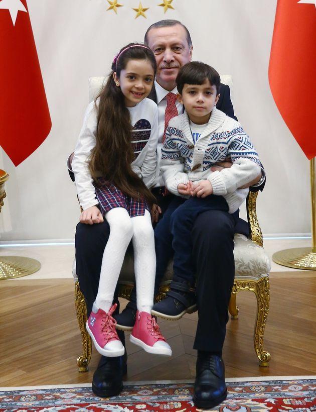 Bana and her brother meet Turkishpresident Recep Tayyip