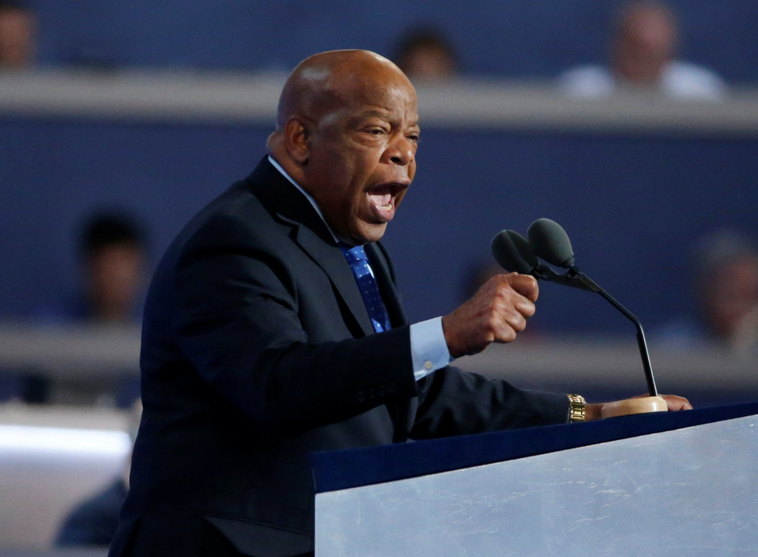 Rep. John Lewis says he isn't sure whether he can work with Donald Trump, the incoming president.