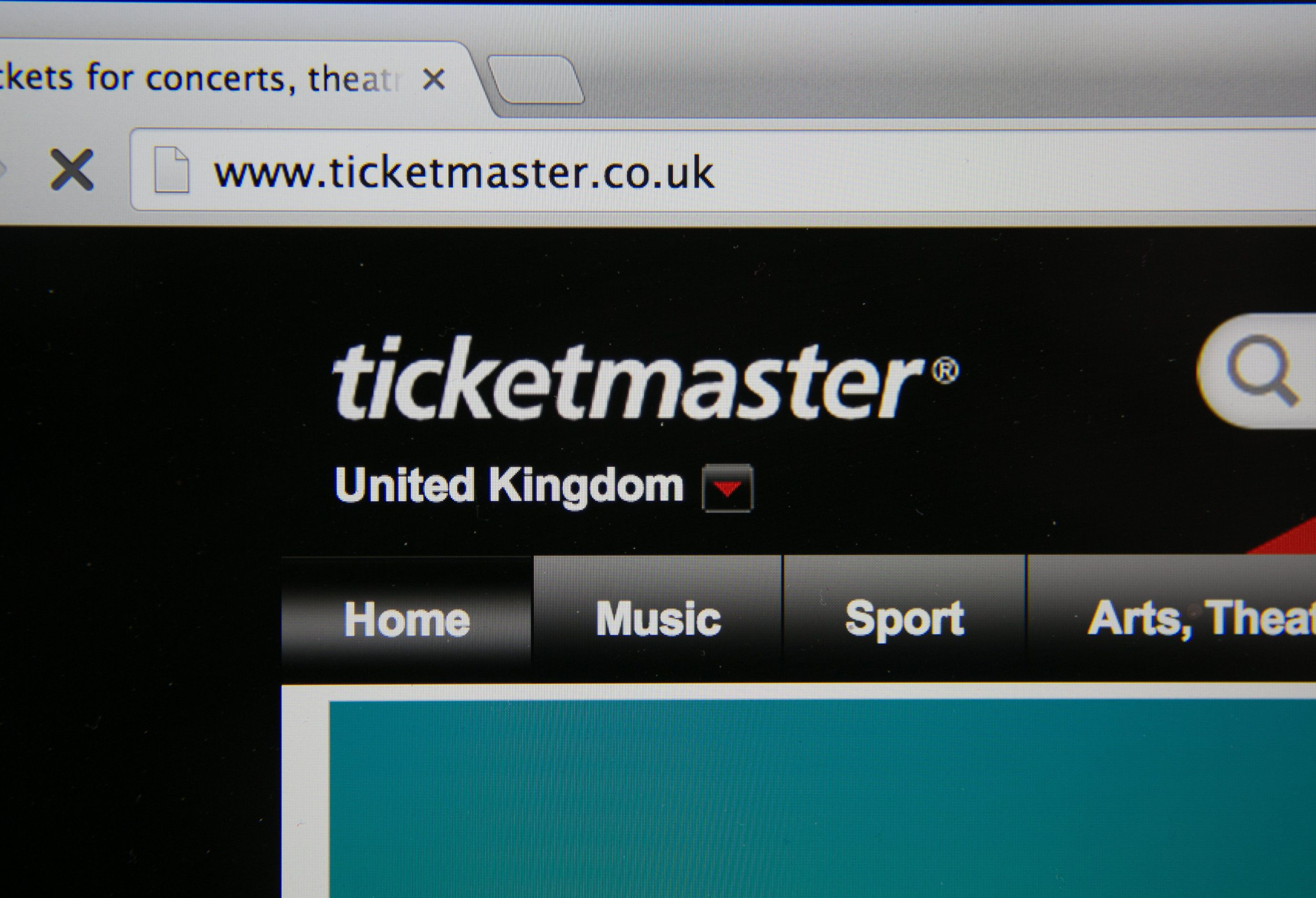 BRISTOL, UNITED KINGDOM - AUGUST 11:  In this photo illustration a laptop displays the ticketmaster website on August 11, 2014 in Bristol, United Kingdom. This week marks the 20th anniversary of the first online sale. Since that sale - a copy of an album by the artist Sting - online retailing has grown to such an extent that it is now claimed that 95 percent of the UK population has shopped online and close to one in four deciding to shop online each week.  (Photo Illustration by Matt Cardy/Getty Images)