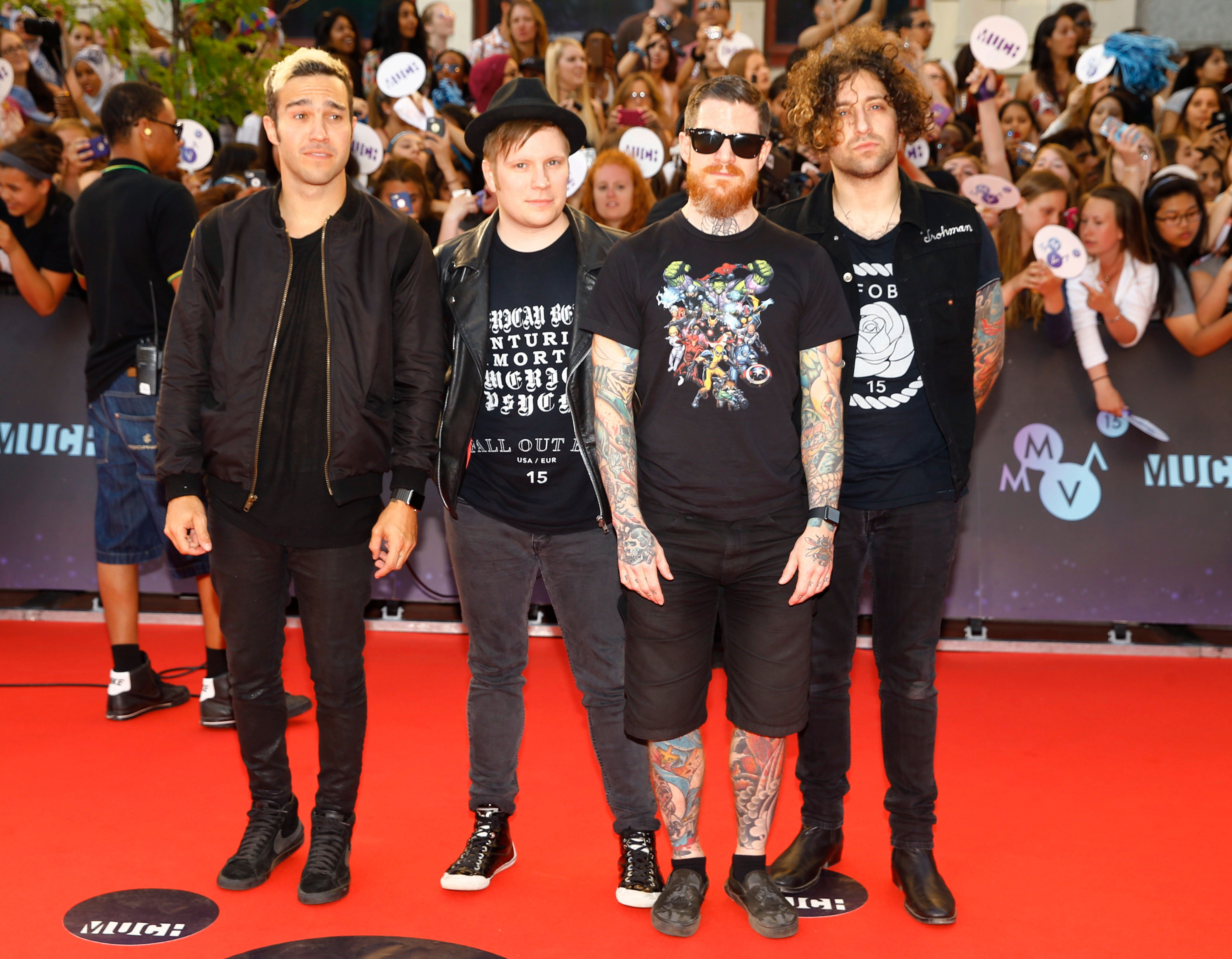 American rock band Fall Out Boy arrive at the MuchMusic Video Awards (MMVAs) in Toronto, June 21, 2015. REUTERS/Mark Blinch