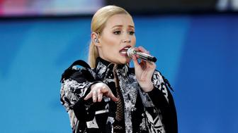 Singer Iggy Azalea performs during ABC's Good Morning America Summer Concert Series in Central Park in Manhattan, New York, U.S. June 10, 2016. REUTERS/Mike Segar