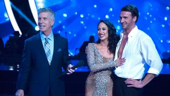 DANCING WITH THE STARS - 'Episode 2307' - The eight remaining celebrities will dance to some of the most popular songs throughout the decades, as 'Eras Night' comes to 'Dancing with the Stars,' live, MONDAY, OCTOBER 24 (8:00-10:01 p.m. EDT), on the ABC Television Network. (Eric McCandless/ABC via Getty Images) TOM BERGERON, CHERYL BURKE, RYAN LOCHTE