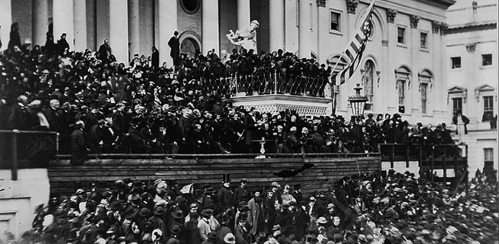 Abraham Lincoln's Second Inauguration, 1865, on the East Front of the Capitol