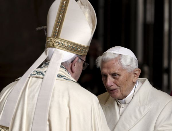 "Francis has said having Benedict in the Vatican is like having a ""<a href=""http://www.catholicnewsagency.com/news/pope-franci"