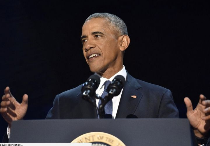President Obama during his farewell speech.