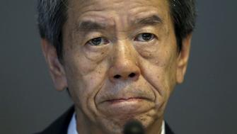 Toshiba Corp President and Chief Executive Officer Hisao Tanaka attends a news conference at the company headquarters in Tokyo July 21, 2015. Japan's Toshiba Corp said Tanaka was stepping down on Tuesday after an independent investigation found he had been aware the company had been inflating its profits over a number of years.   REUTERS/Toru Hanai