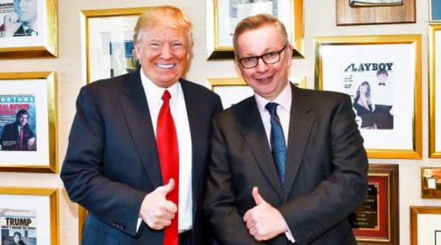 Michael Gove Defends Donald Trump Thumbs-Up Photograph