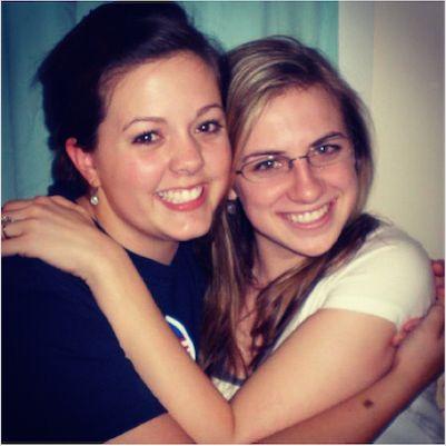 My dear friend Katie Glenn and I, circa 2008.