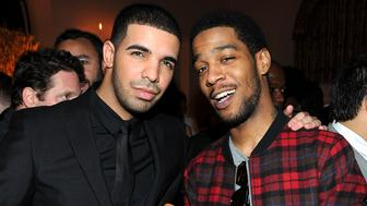 LOS ANGELES, CA - NOVEMBER 17: Recording artists Drake (L) and Kid Cudi attend the GQ 2010 'Men of the Year' party held at Chateau Marmont on November 17, 2010 in Los Angeles, California.  (Photo by Michael Buckner/Getty Images for GQ)