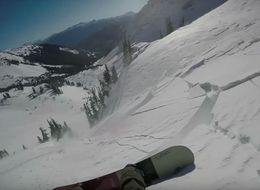 Watch The Moment A High-Tech Backpack Saves This Snowboarder's Life