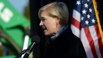WARREN, MI - JANUARY 15: Planned Parenthood's President Cecile Richards speaks during the 'Our First Stand: Save Health Care' rally with Sen. Bernie Sanders, members of the Michigan congressional delegation and local elected officials at Macomb Community College on January 15, 2017 in Warren, Michigan. The event is one of more than 40 'Our First Stand: Save Health Care' rallies taking place around the country on January 15th. (Photo by Rachel Woolf/Getty Images)