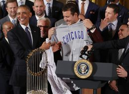 The Chicago Cubs Meet Obama At The White House