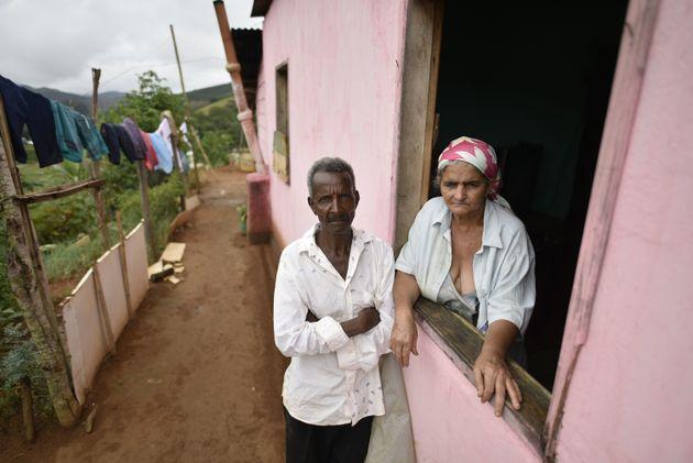 Pedro Joel de Oliveira and Teresinha Gomes de Oliveira, the parents of a victim of suspected yellow fever,...