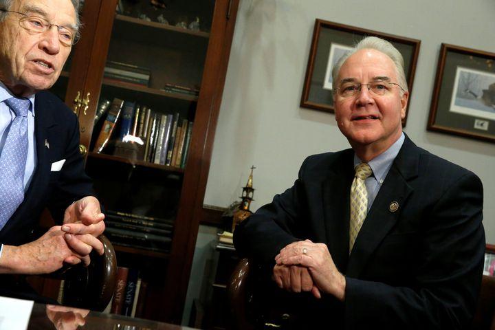 U.S. Senator Chuck Grassley (R-IA) welcomes Representative Tom Price (R-GA), President-elect Donald Trump's nominee to be sec