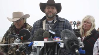 Ammon Bundy addresses the media at the Malheur National Wildlife Refuge near Burns, Oregon, January 5, 2016. Saturday's takeover of the Malheur National Wildlife Refuge outside the town of Burns, Oregon, marked the latest protest over federal management of public land in the West, long seen by conservatives in the region as an intrusion on individual rights. REUTERS/Jim Urquhart
