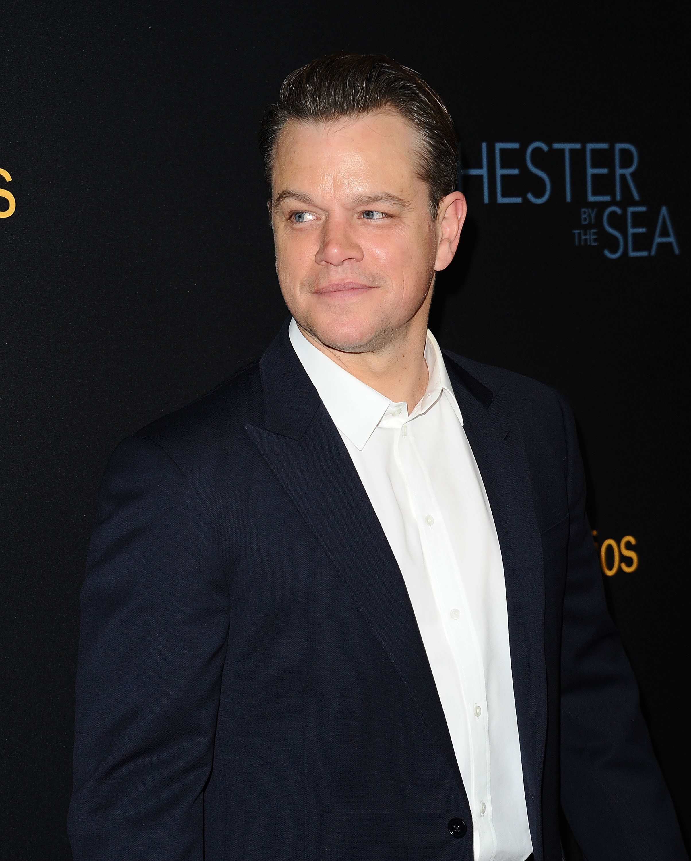 BEVERLY HILLS, CA - NOVEMBER 14:  Producer Matt Damon attends the premiere of 'Manchester by the Sea' at Samuel Goldwyn Theater on November 14, 2016 in Beverly Hills, California.  (Photo by Jason LaVeris/FilmMagic)