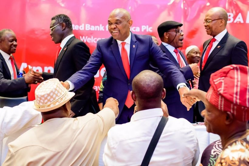 Tony Elumelu, Chairman, United Bank for Africa (UBA) with shareholders at the 54th UBA Annual General Meeting, Lagos Nigeria.