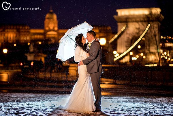 """Daniella and Martyn got married this weekend in Budapest, Hungary."" -- <i>Grazmel Wedding Photography</i>"