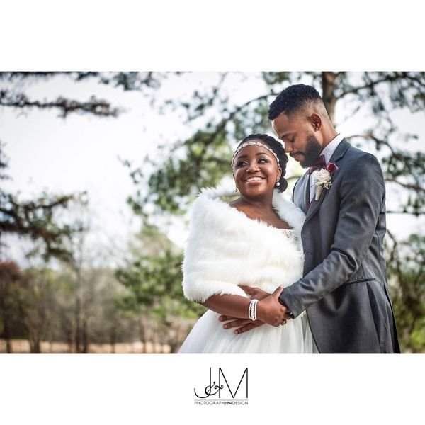 """Dariel and Angelo Coleman had an elegant winter wedding where they said their I dos in front of family and close friends at"