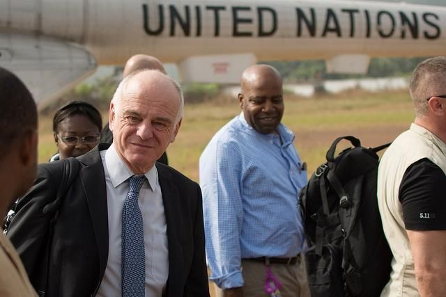 The UN's Dr. David Nabarro, leading an expert panel on emergency response reforms.