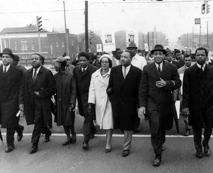 John Lewis is pictured at the far right.