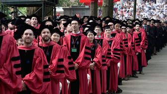 CAMBRIDGE, MA - MAY 28:  General atmosphere at the Harvard University 2015 Commencement at Harvard University on May 28, 2015 in Cambridge, Massachusetts.  (Photo by Paul Marotta/Getty Images)