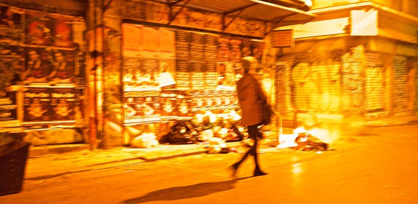 Street fires in Exarcheia
