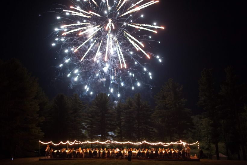 A field of luminaries that appeared at sunset, a surprise fireworks display, and a dance party in a hidden forest grove all k