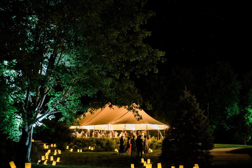 """Throughout the evening, various parts of the property were """"unveiled"""" to guests.  Photo by Shannen Natasha of The Wedding Art"""