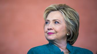 SYLMAR, CA  - JUNE 04:   Democratic presidential candidate Hillary Clinton during a conversation on immigration at Los Angeles Mission College Culinary Arts Institute,  June 4, 2016  in Sylmar, California  (Photo by Brooks Kraft/ Getty Images)'n