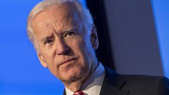 U.S. Vice President Joseph 'Joe' Biden pauses as he speaks during the JPMorgan Healthcare Conference in San Francisco, U.S., on Monday, Jan. 9, 2017. Investors focused on drug pricing and health-care law changes, deployment of capital toward M&A, innovation and R&D productivity, tax changes, and regulatory environment at the FDA. Photographer: David Paul Morris/Bloomberg via Getty Images