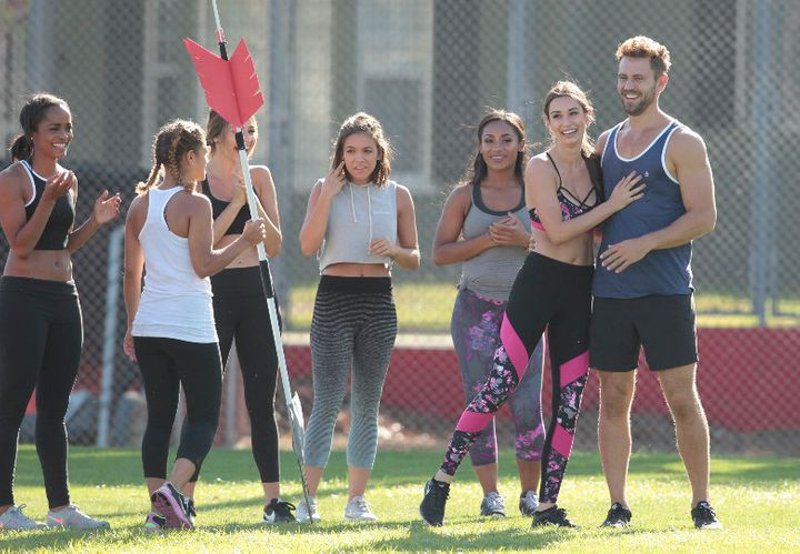 Nick Viall on a group date with several of his bachelorettes.