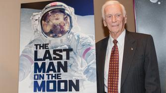 WASHINGTON, DC - FEBRUARY 24:  Former Apollo astronaut Captain Gene Cernan attends the Washington DC screening of 'The Last Man On The Moon' at Landmark Theatre on February 24, 2016 in Washington, DC.  (Photo by Teresa Kroeger/FilmMagic)